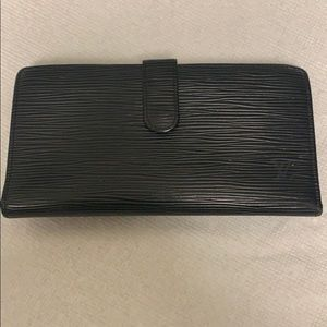 Louis Vuitton Black Leather Wallet